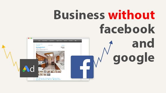 It is impossible to run a business without Facebook and Google